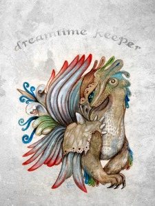 """Dreamtime Keeper"", Liliana Capraro 2013"